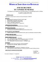 Réunion conseil 2019-10-24