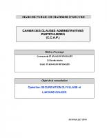 Le cahier des clauses administratives particulières (CCAP)