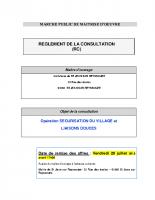 Le règlement de la consultation (RC)