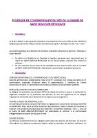 Politique de confidentialité du site internet de la Mairie de SAINT-JEAN-SUR-REYSSOUZE